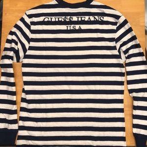 A$AP x Guess Jeans Long Sleeve Blue Stripe - XL